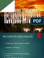 Recursos Naturales- powerpoint