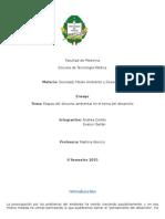 Etapas Del Discurso Ambiental en e marco del desarrollo