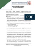18_especificaciones Tecnicas - Electricas
