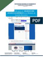 Guía Rápida Para El Ingreso Del Avance Académico El Módulo Gestión Docente