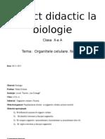 Proiect Didactic La Biologie Nr1 Pr2