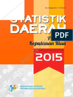 Statistik Daerah Provinsi Kepulauan Riau 2015