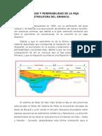 Porosidad y Permeabilidad de La Faja Petrolifera Del Orinoco