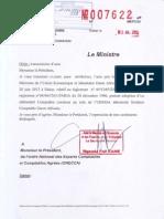 Lettre Cellule de suivi de l'Intégration n° 007622 du 5 juillet 2013 -  Règlt n° 05 CM- UEMOA