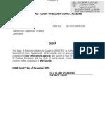 Spanish Fort Case Motion
