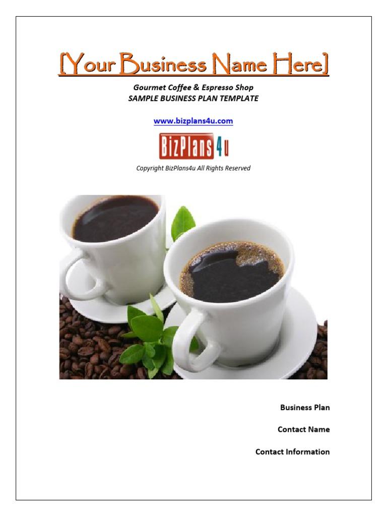 Business plan coffee shop pdf
