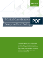 5 Critical Considerations for Cloud Backup