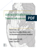 CONTRATS INTERNATIONAUX