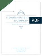 Mapa Conseptual de Elementos Del Sistema de Información