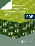 Contributia Sectorului Berii La Economia Romaniei in 2013