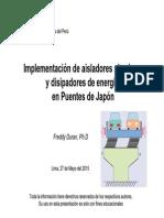 Implementacion de Aisladores Sismicos y Disipadores de Energia en Puentes de Japon
