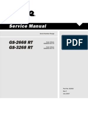 Genie Service Manual | Motor Oil | Ignition System