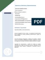 Modelo CV Ing Electronico