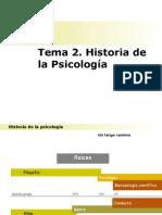 Tema 2. Historia de La Psicología