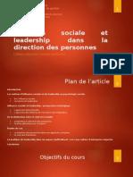 Influence sociale et leadership dans la direction des personnes