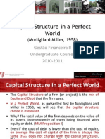 Session 15 Capital Structur in a Perfect World