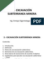 2 Excavación Subterránea