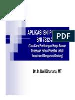 9. SNI 7832-2012 Aplikasi Tata Cara Perhitungan Harga Satuan Pekerjaan Beton Pracetak Untuk Bangunan Gedung
