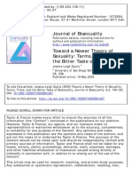 Toward a Newer Theory of Sexuality- Terms Titles and the Bitter Taste of Bisexuality