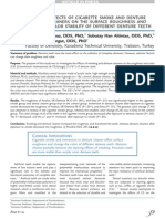 Effects of cigarette smoke and denture cleaners on the surface roughness and color stability of different denture teeth