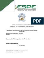 Métodos de Sintonizacion (Sistemas de Control)