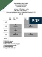 Emploi Du Temps Master S1 IPM