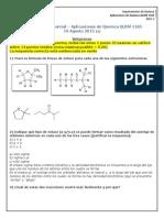 Primer Parcial Química Orgánica 2015-2-1 Soluciones