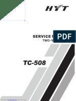 HYT_TC 508_Usa RDA1846_400 a 470MHz_136 a 174MHz_5W_16Canais_.22uV