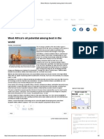 West Africa's Oil Potential Among Best in the World