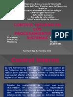 Control Interno de los procesamientos de sistemas