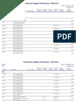 Listado Equipos Mecánicos y Eléctricos
