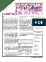 March_April 2010 Color Newsletter