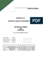 Criterio de Diseño Cañerías