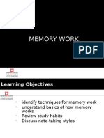 Week 7 - Memory and Memorization Techniques 1HS12