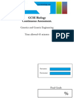 GCSE Biology - Genetics Test_LB_int