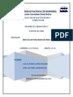 Informe Laboratorio codigo de lineas comunicaciones 2