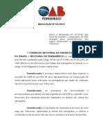 Resolução Nº 02.2015 Quinto Constitucional Alteração de Resolução 11.2012 1
