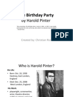 The Birthday Party- Harold Pinter