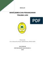 Manajemen Dan Penanganan Trauma Lien