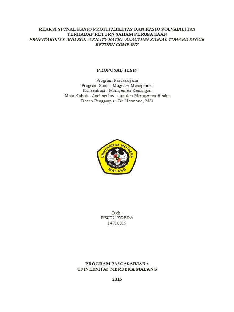 Contoh Tesis Magister Manajemen Contoh Soal Dan Materi Pelajaran 8