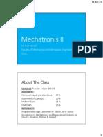Mechatronics II Part 1 - Introduction