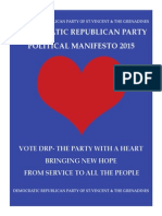 2015 Manifesto Booklet of the DRP