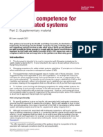 Managing Competence for Safety-Related Systems (Part 2) - UK HSE, 2007