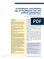 The Effects of Telephone Consultation and Triage on Healthcare Use and Patient Satisfaction - A Systematic Review