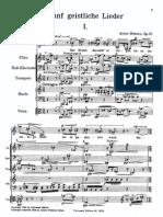 Webern - 5 Geistliche Lieder Op. 15