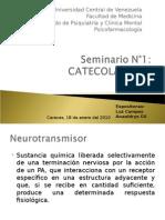 Seminario 1. Catecolaminas. Psicofarmacología.