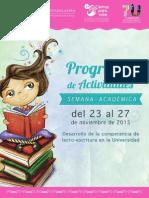 Programa Semana 2015