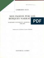 Eco, Umberto (1994) - Seis Paseos Por Los Bosques Narrativos
