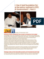 Budget 2016 Has It Laid Foundation for Implementing the Policy Outlined in EPS of Yahapalana Government – Part 3
