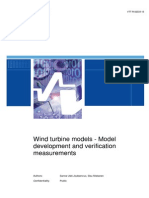 Wind Turbine Models - Model Development and Verification Measurements final update